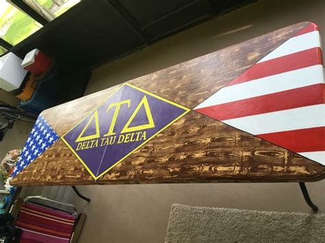 delta tau delta fraternity america beer pong table wood