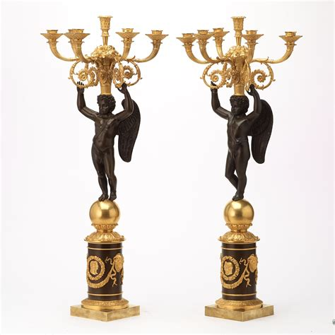 A large pair of French Chibout circa 1820 gilt and