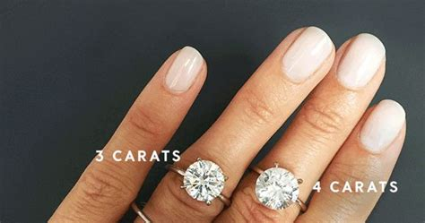 A Side-by-Side Carat Comparison of Different Engagement