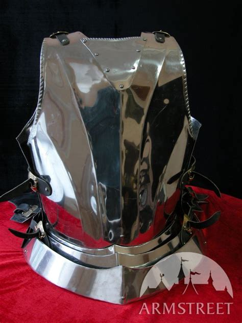 Medieval gothic style cuirass with back plate for sale
