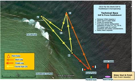 Fiji Course Maps: Cloudbreak for the Surf Race; Flat or