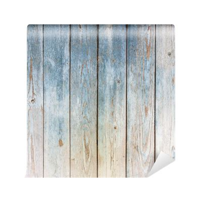 Blue Vintage wooden background Wall Mural • Pixers® • We