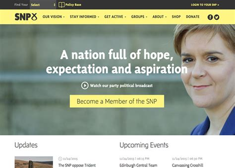 The Scottish National Party - Awwwards Nominee