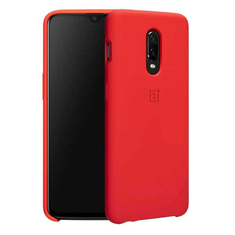 OnePlus 6T Silicon Case - Red - 100% Genuine - allmytech