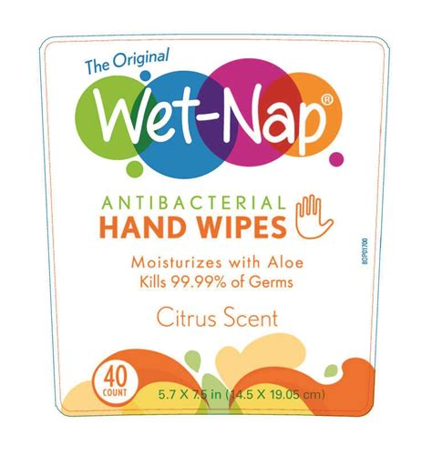 Wet Nap Antibacterial Hand Wipes (cloth) Professional