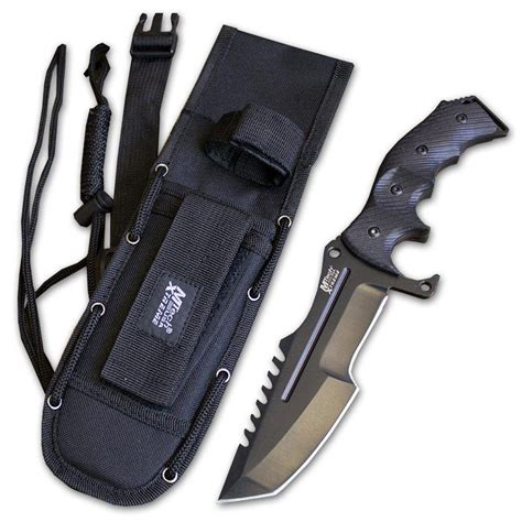 Black Fixed Blade Tactical Knife - Extreme Fighting Knife
