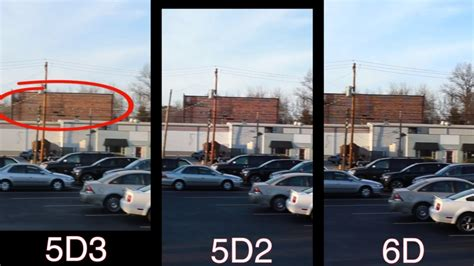 Canon 5D Mark II, 5D Mark III, and the New 6D Face off in