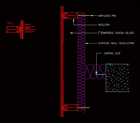 Curtain wall in AutoCAD   Download CAD free (48