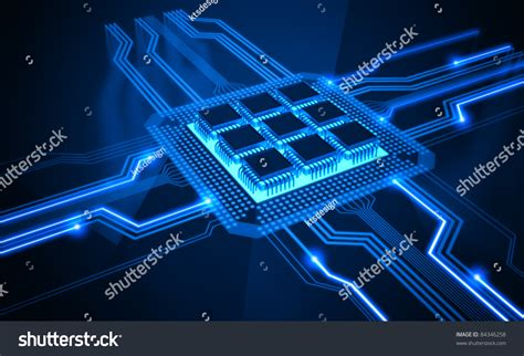 Central Processing Unit Processor Microchip Interconnected