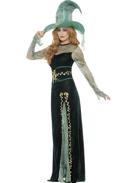 Adult Deluxe Emerald Witch Costume - 45111 - Fancy Dress Ball