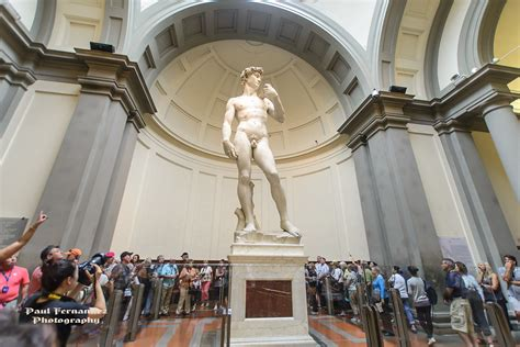 Michelangelo's David at the Academia Gallery, Florence, It