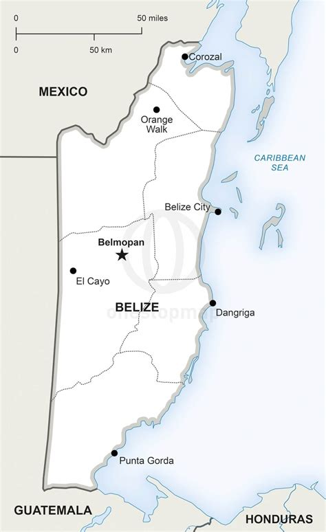 Vector Map of Belize Political | One Stop Map