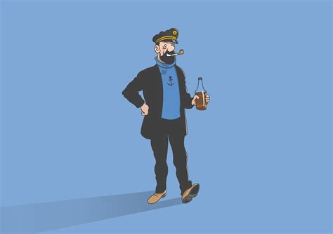 """Character design of ¨The Adventures of Tintin"""" on Behance"""