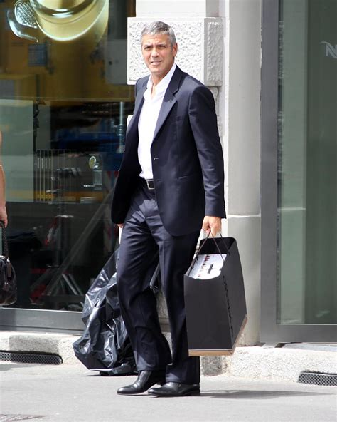 Photos of George Clooney Filming Nespresso Commercial in
