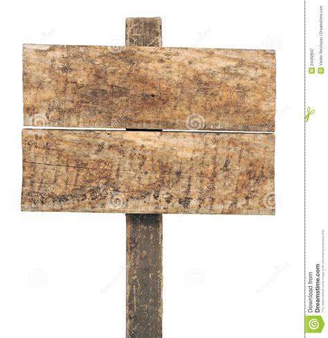Empty wooden sign stock image