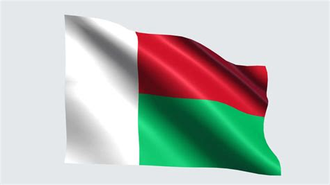 Flag Of Italy Waving In The Wind With Flagpole - Very