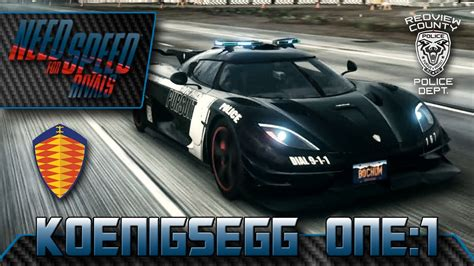 Koenigsegg One:1 (Enforcer) - NFS Rivals POLICE - PS4 [HD+