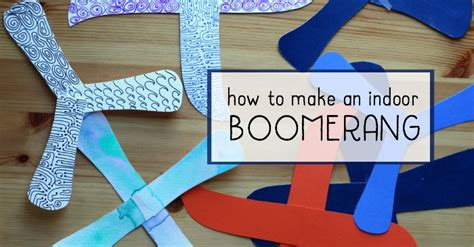 How to Make a Paper Indoor Boomerang - STEAM Project for Kids!